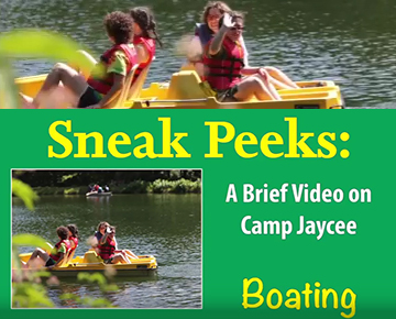 Boating at Camp Jaycee