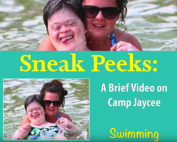 Swimming at Camp Jaycee